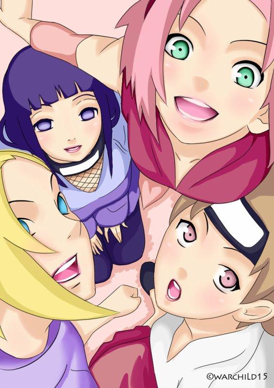 Ino, Hinata, Sakura et Tenten.