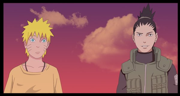 Naruto et Shikamaru.