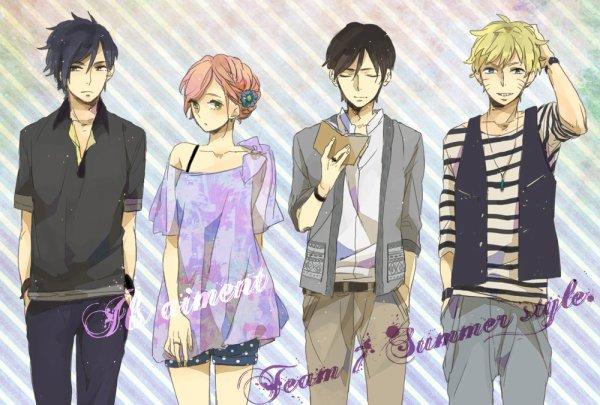 Sasuke, Sakura, Sai et Naruto
