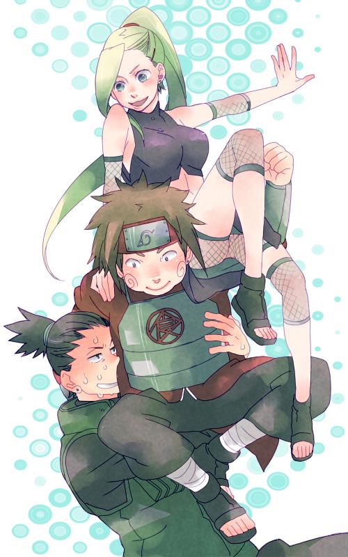 Shikamaru, Choji et Ino.