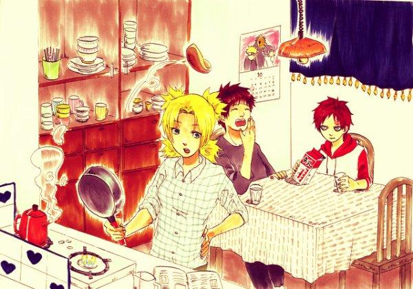 Temari, Kankuro et Gaara