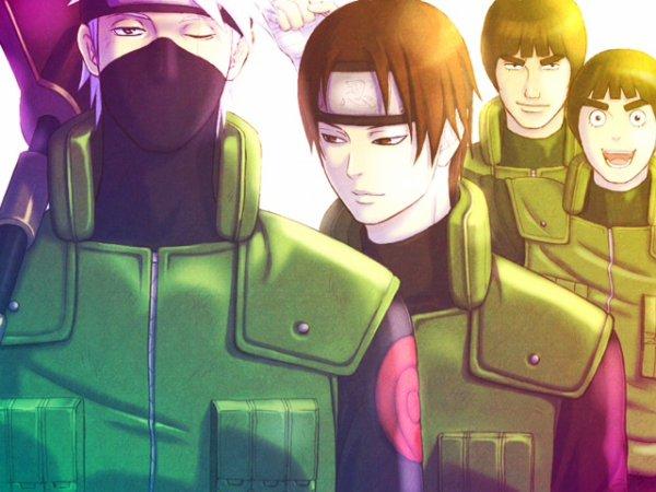 Kakashi, Sai, Lee, Gai