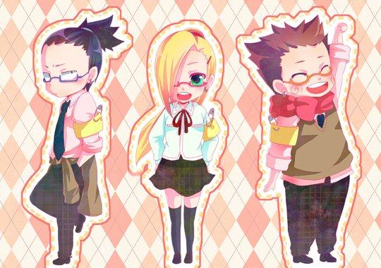 Shikamaru, Ino, Choji