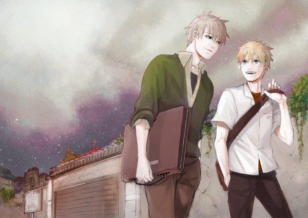 Kakashi et Naruto.