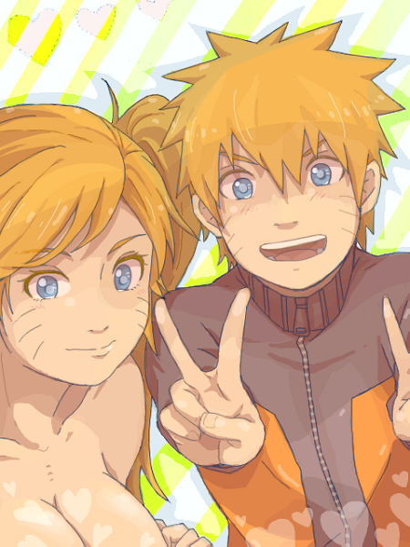 Naruto et Naruko.