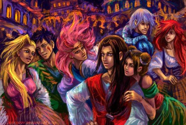 Ino, Kiba, Sakura, Neji, Tenten, Suigetsu et Karin.