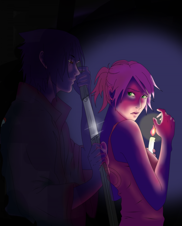 Sasuke et Sakura.