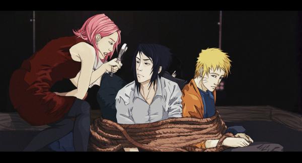 Sakura, Sasuke, Sai, Kakashi et Naruto.
