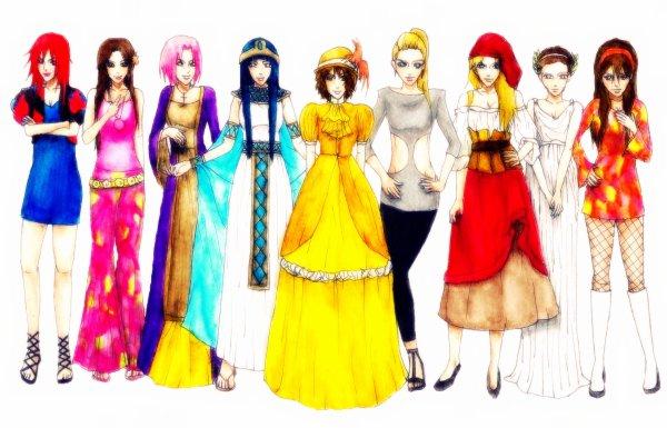 Karin, Tenten, Sakura, Hinata, Matsuri, Ino, Temari, Hanabi, Sari