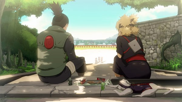 Shikamaru et Temari.