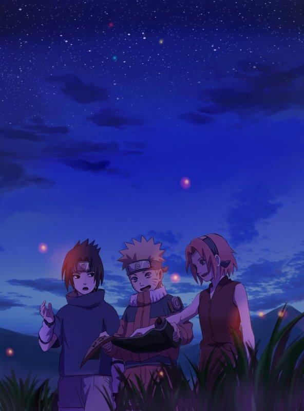 Sasuke, Naruto et Sakura.