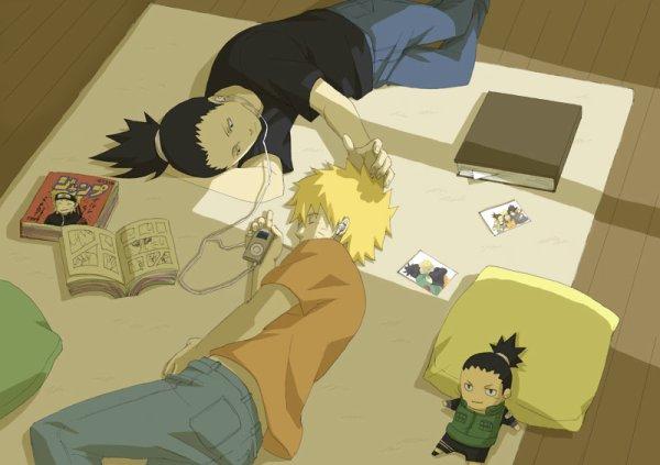 Shikamaru et Naruto.