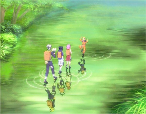 Kakashi, Sasuke, Sakura et Naruto.