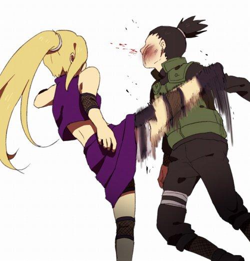 Ino et Shikamaru.