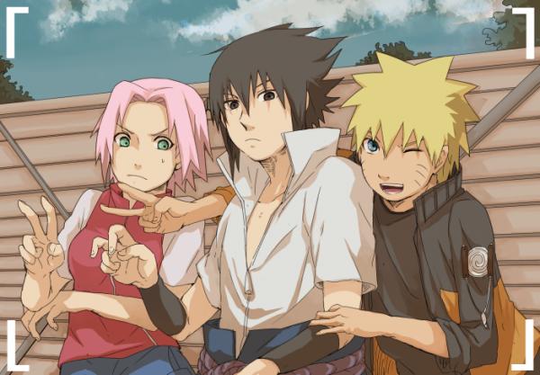 Sakura, Sasuke et Naruto.