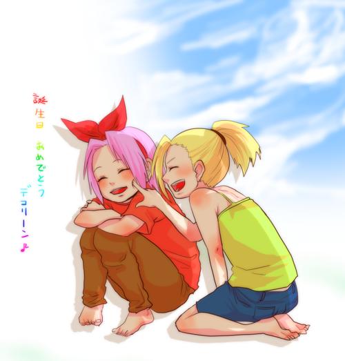Sakura et Ino.