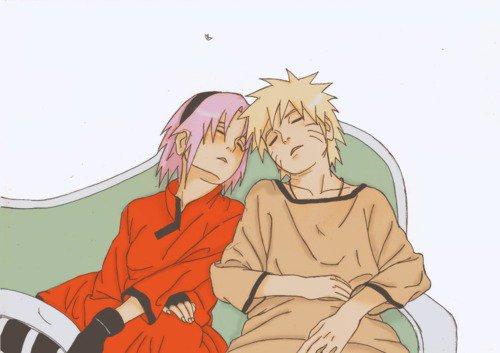 Sakura et Naruto.