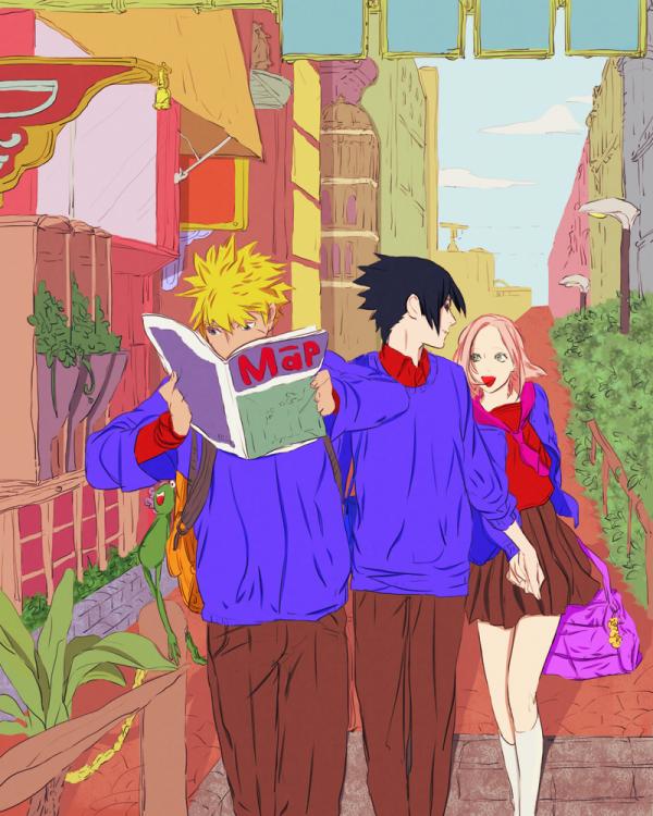 Naruto, Sasuke et Sakura.