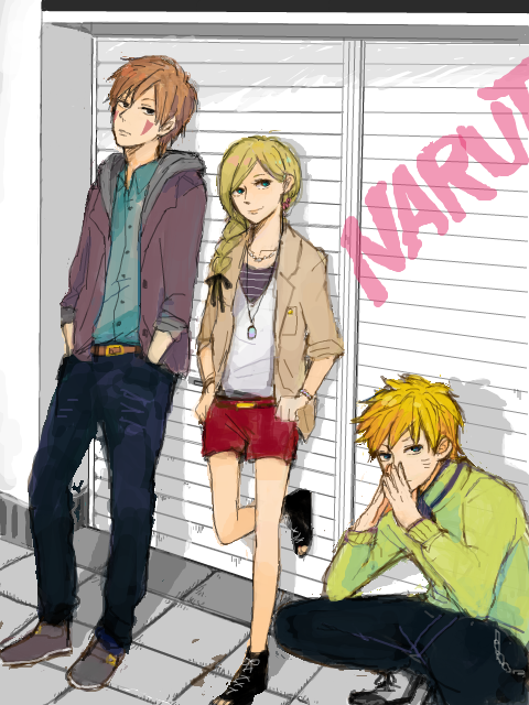 Kiba, Ino et Naruto.