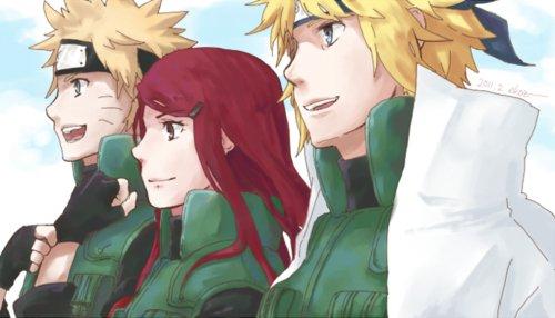 Naruto, Kushina et Minato.