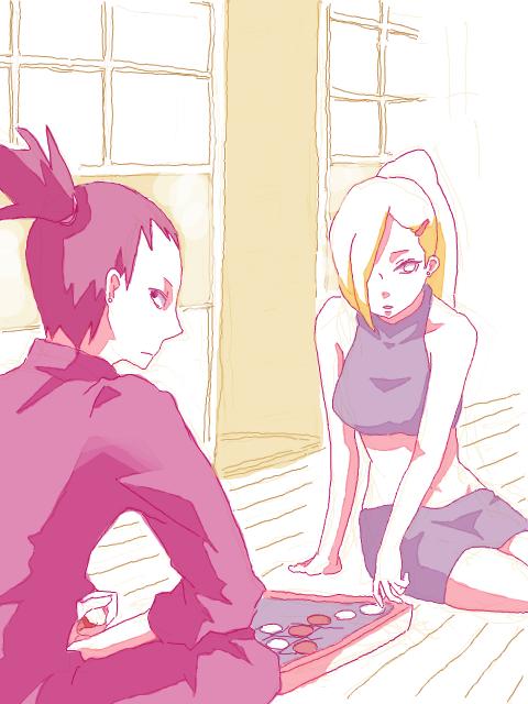 Shikamaru et Ino.