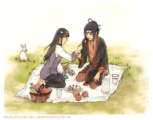 Hinata et Haku.