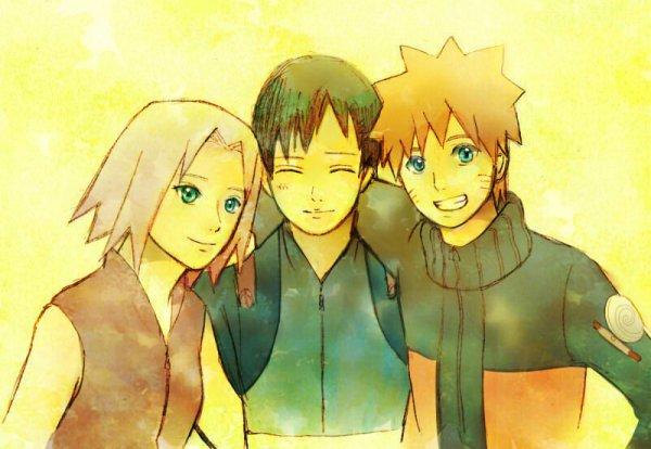 Sakura, Sai et Naruto.