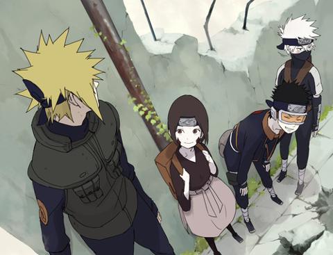 Minato, Rin, Obito et Kakashi