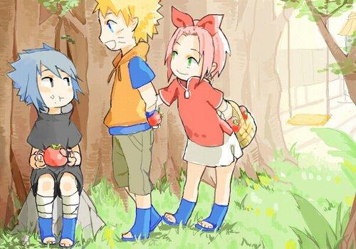 Sasuke, Naruto et Sakura