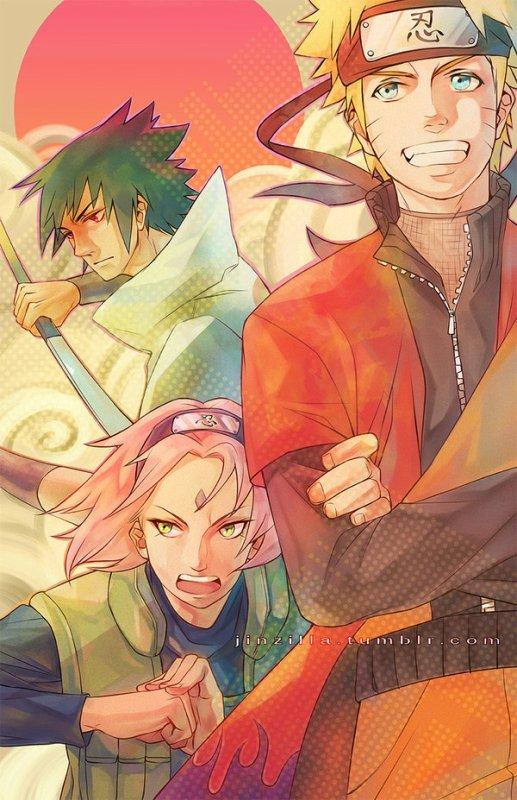 Sasuke Uchiwa, Sakura Haruno et Naruto Uzumaki