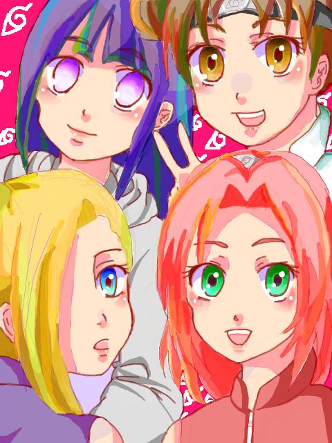 Hinata Hyûga, Tenten, Ino Yamanaka et Sakura Haruno
