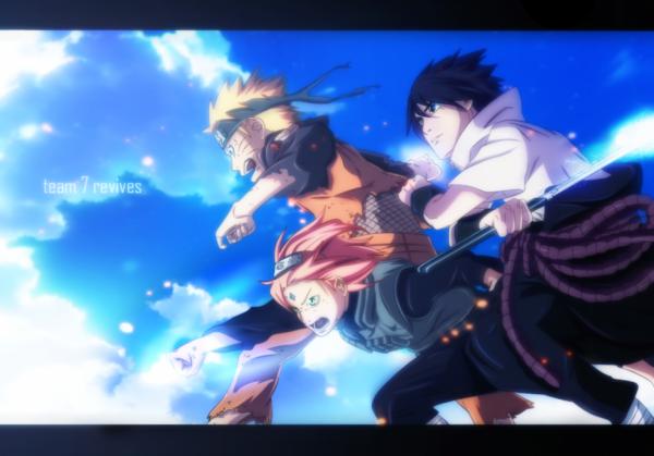 Naruto Uzumaki, Sakura Haruno et Sasuke Uchiwa