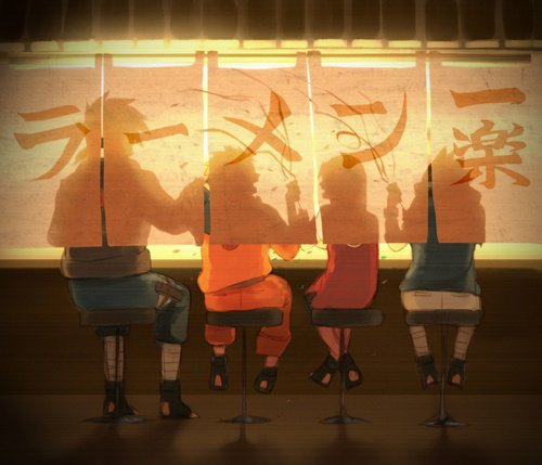 Kakashi Hatake, Naruto Uzumaki, Sakura Haruno et Sasuke Uchiwa