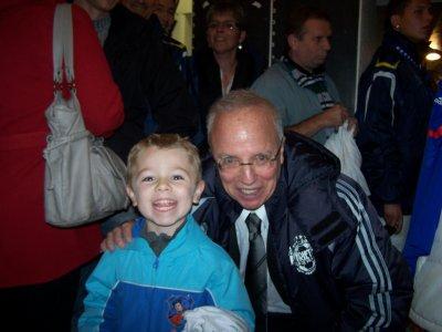 Un souvenir immense avec mon fils !