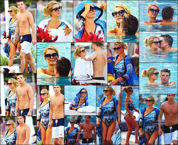 ------- 08/12/12:   La jolie Paris Hilton photographiée dans la journée pour un moment de détente avec River - à Miami.   Sublime Paris été accompagnée de son copain River. J'adore vraiment son maillot de bain bleue, elle est tellement parfaite et sublime.  -------