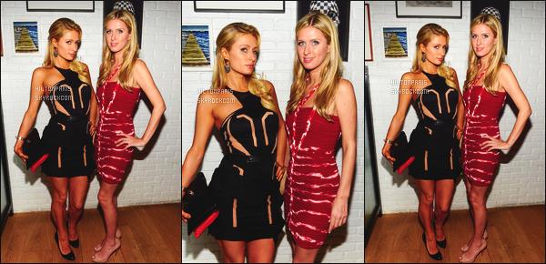 ------- 06/12/12:   Paris Hilton photographiée sur le tapis rouge au dîner « European School » - à Miami dans la soirée.  Mlle Paris été accompagnée de sa petite soeur Nicky. Gros top pour la sublime robe noire, j'aime vraiment beaucoup. Au top les cheveux. -------