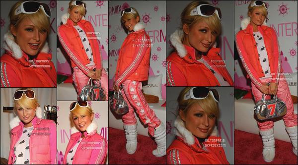 ------- 21/01/06: Notre princesse Paris Hilton photographiée à un grand  événement caritative « Marquee Hospitality ». Je ne sais pas pourquoi Paris est habillée comme ca la combinaison de ski lui va beaucoup surtout la couleur rose j'adore ses cheveux.  -------