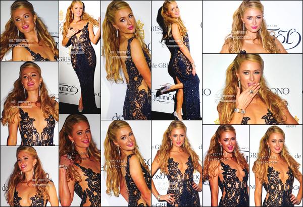 --------  19/05/15 :  Miss Paris Hilton  photographié sur le red carpet lors du dîner de Grisogono Divine -  Cannes.  Tenue trés glamour pour la princesse Paris, gros top pour elle! On ne peut que adorer ( Robe: Yousef Al-Jasmi   ~ Bijoux: Avakian ).   --------