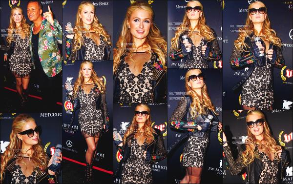 --------  15/05/15 : La princesse Paris  Hilton photographiée arrivant  à la grande soirée« VIP Room » - Cannes.   Bon Paris a oublier de s'habillé, elle à gardé sa nuisette! Mais sinon j'aime beaucoup. Elle est toute jolie. Gros top pour cette veste en cuire.   --------
