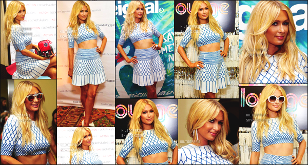 ------- 07/04/15: La belle Paris Hilton photographié assistant à l'événement   Lounge  dans la journée - dans Los Angeles. J'adore beaucoup toutes les photos lors de l'événement, Paris est  belle, gros top pour la tenue simple j'adore les talons et ses cheveux. -------