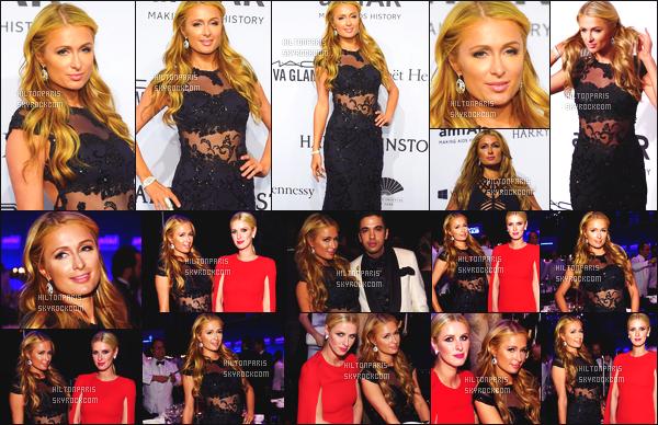 ------- 11/02/15: Notre sublime  Paris Hilton  photographiée     assistant au grand gala des « amfAR 2015 » - à New York.      Vraiment toute belle Paris dans cette longue robe noire, transparente. J'aime  aussi son maquillage nude et tout naturel. J'adore beaucoup. -------