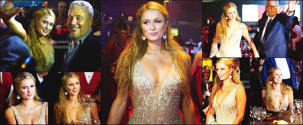 ------- 27/02/15: Sublime Paris    photographiée    à la soirée de gala de clôture de la semaine de  « Festival international ».  Dommage qu'on ne voit pas la tenue entiére de Paris Hilton, cela devait être une robe de princesse. Je lui met un gros top quand même. -------