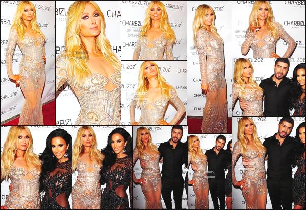 ------- 07/04/15: La sublime Paris  Hilton photographiée assistant à un dîner donné par  Charbel Zoe's  - à Los Angeles. Mlle Paris est vraiment sublime dans cette robe trés original.  J'adore beaucoup la bague qu'elle porte. Elle a la classe comme une princesse. -------