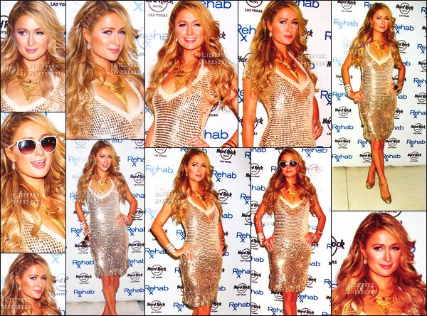 --------  25/04/15 : Princesse Paris  Hilton photographié à l'ouverture de  « Hard Rock Hotel    » - à Las Vegas.   ●Toujours aussi belle notre Paris, j'adore beaucoup cette robe, j'adore la couleur, cela lui va vraiment bien surtout avec ses cheveux.  --------