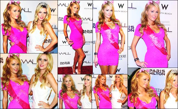 ------- 06/06/15: Belle  Paris Hilton  photographiée  assistant à la soirée « Bachelorette Party » de sa s½ur Nicky -   Miami.    Super belle La soirée c'est faite dans l'hotel Wall at W Hotel. Jaime beaucoup la tenue de Paris rose, courte, puis avec ses oreilles de chat.     -------