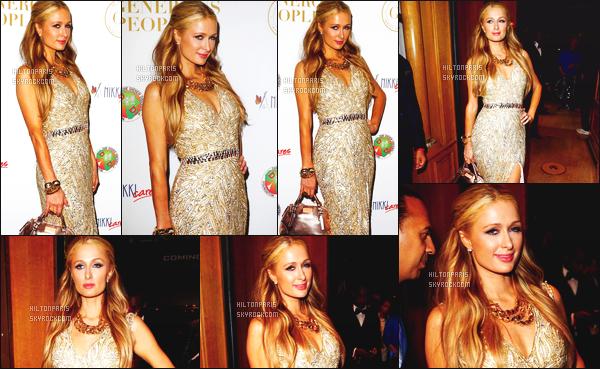 --------  18/05/15 :  La princesse Paris Hilton  photographié assistant à la soirée « The Heart Fund » - à Cannes.   Gros top pour la robe. Sublime. ( Talon: Louboutin ~ Sac: Paris Hilton Collection ~ Bijoux: Bvlgari ~ Robe: Yousef Al-Jasmi ).   --------