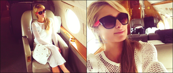 ____________________  Découvrez les quelques photos sur Instagram de Miss @ParisHilton.  Quelques photos  de la sublime Paris  Hilton sur Instagram à Juin 2015, mignonne ! Lors de son trajet en jet-privé allant à Milwaukee. ____________________