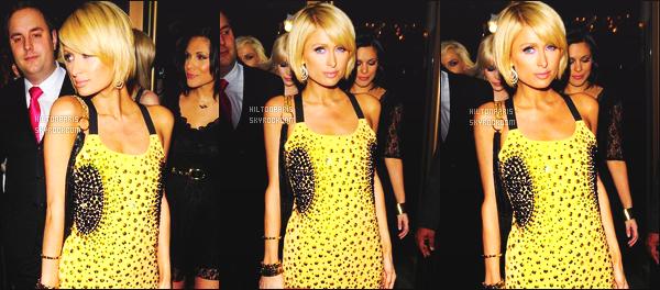 --------  27/01/09 : La belle  Paris  Hilton   photographiée arrivant à la boite de nuit «  Prive Nightclub » - à Londres.   Paris Hilton est vraiment trop sublime dans cette robe, tres courte et trés moulante. Je suis fan de ses cheveux court et de son make up !  --------
