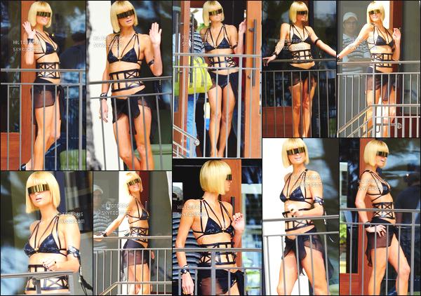 ------- 02/04/09: Princesse Paris Hilton  photographiée    en shooting à l'hôtel «  The Elder  » dans la journée à Los Angeles.  Paris Hilton est  au top dans la tenue. Elle est vraiment parfaite. J'adore beaucoup le maillot qu'elle porte on dirait une petite Lady Gaga.    -------