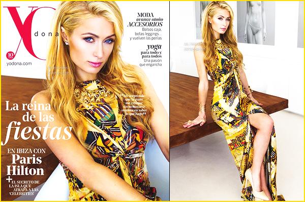 --------   • • Découvrez notre jolie Paris Hilton en shoot pour le magazine « Yo Dona » - 2015  Paris Hilton est top dans se shoot, j'aime trop se shoot à été tournée chez elle à Ibiza cet été. J'adore  assez les tenues qu'elle porte.  --------